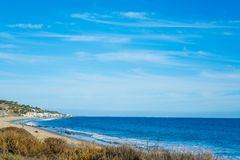 Blue sea in Malibu. California Stock Photos