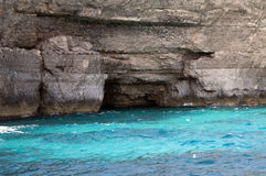 Blue sea at malta Stock Images