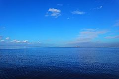 Blue Sea in Manila Bay royalty free stock photography