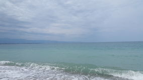 Blue sea. The blue sea of mediterraneo stock image