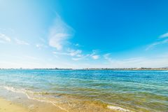 Blue sea in Mission Bay. California Stock Images