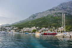 Blue sea and mountain royalty free stock images