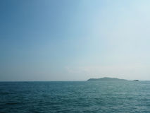 Blue sea/ocean and clouds sky abstract background in Thailand. horizon over view. Royalty Free Stock Photos