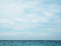 Blue sea/ocean and clouds sky abstract background in Thailand. Royalty Free Stock Photo