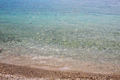 Blue sea or ocean shore Royalty Free Stock Image