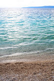 Blue sea or ocean shore Royalty Free Stock Images