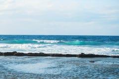 Blue sea or ocean waves Royalty Free Stock Photos