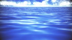 Blue Sea Ocean Waves On The Surface Loopable Background. Blue Sea Ocean Waves On The Surface Loopable Motion Background stock video