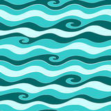 Blue sea pattern. Vector illustration Royalty Free Stock Photo
