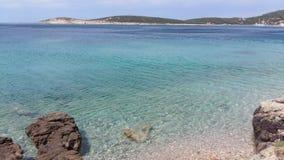 BLUE SEA. PEACEFUL BLUE SEA ON THE ISLAND stock photo