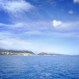 blue sea and perfect sky Royalty Free Stock Image