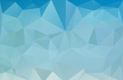 Blue sea polygonal abstract background Stock Images