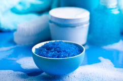 Blue sea salt Royalty Free Stock Photo