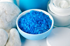 Blue sea salt Royalty Free Stock Image
