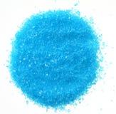 Blue sea salt for bath isolated Stock Photography