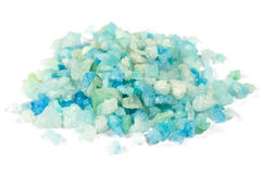 Blue sea salt for spa Stock Photos