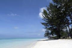Blue sea and sandy beach Stock Photography