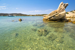Blue sea in Sardinia Royalty Free Stock Photo