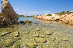 Blue sea in Sardinia Royalty Free Stock Image