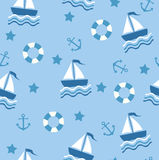 Blue Sea Seamless Royalty Free Stock Photography