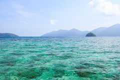 Blue sea and seascape veiw at Lipe island Royalty Free Stock Photo