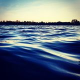 Blue sea. See,  Wellen,  abends Stock Photography