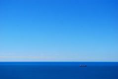 Blue sea and sky. Sea and sky in a crisp day Royalty Free Stock Image