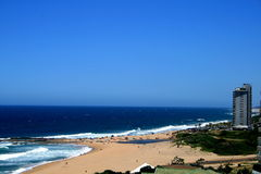 Blue sea and sky. South african beach on a sunny day Royalty Free Stock Photos