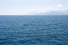 Blue sea and sky Royalty Free Stock Images