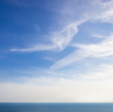 Blue sea and sky. background with space for text Royalty Free Stock Image