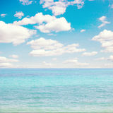 Blue sea and sky. background with space for text Royalty Free Stock Photo