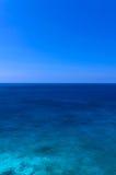 Blue sea and sky, beautiful nature, sea background Stock Photos