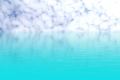 Blue sea and sky clouds Royalty Free Stock Photography