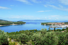 Blue sea and sky in Croatia stock photos