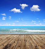 Blue sea and sky Stock Image