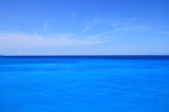 Blue sea and sky Royalty Free Stock Photo
