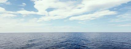 Blue sea and sky horizon.  royalty free stock image