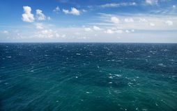 Blue sea and sky, horizon line. Seascape Stock Photos