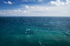 Blue sea and sky, horizon line. Seascape Stock Photography