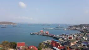 Blue Sea and Sky at Ko Sichang,Chonburi, Thailand Royalty Free Stock Image