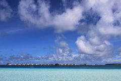 Blue sea and sky of maldives Royalty Free Stock Images