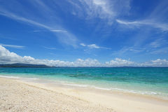 The blue sea and sky in Okinawa Stock Photo