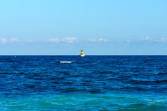 Blue sea and sky. Royalty Free Stock Photography