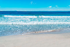 Blue sea and sky in Stintino Stock Photo
