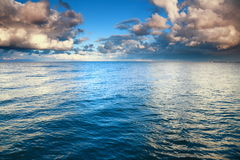 Blue sea sky, storm, tempest Stock Image