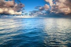 Blue sea sky, storm, tempest. Horizon  sea sky, storm, tempest, sky clouded over Stock Image