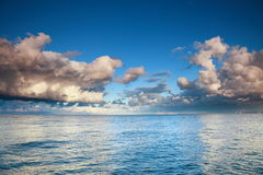 Blue sea sky, storm, tempest Royalty Free Stock Image