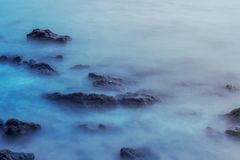 Blue sea soft focus. Evening blue sea soft and beatuful royalty free stock photo