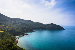 Blue sea of the splendid island of Argentario Royalty Free Stock Image