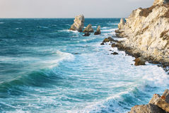 Blue Sea Storming Stock Images